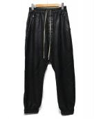 RICK OWENS(リックオウエンス)の古着「ジョガーパンツ」 ブラック