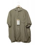 KAPTAIN SUNSHINE(キャプテン サンシャイン)の古着「RIVIERA S/S SHIRT」|カーキ