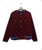 whiz limited(ウィズリミテッド)の古着「中綿ノーカラージャケット」 ボルドー