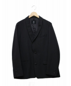 bukht(ブフト)の古着「ワイドテーラードジャケット」 ブラック