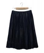 tricot COMME des GARCONS(トリコ コムデギャルソン)の古着「デニムプリーツスカート」|インディゴ