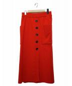 TICCA(ティッカ)の古着「ラップ風タイトスカート」|レッド