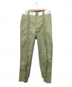BOWWOW(バウワウ)の古着「INSIDE OUT WORK TROUSERS」 カーキ