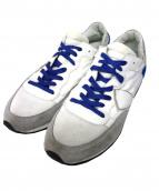PHILIPPE MODEL(フィリップ モデル)の古着「ローカットスニーカー」|ホワイト×ブルー