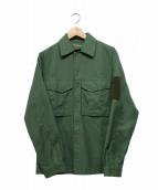 TILAK(ティラック)の古着「ミリタリーシャツジャケット」|オリーブ