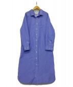 Gymphlex(ジムフレックス)の古着「シャツワンピース」|ブルー