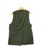 GABRIELE PASINI(ガブリアルパジーニ)の古着「ジレ」|オリーブ