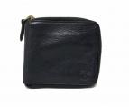 ()の古着「レザーラウンドファスナー財布」 ブラック