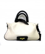 PotioR(ポティオール)の古着「レザーショルダーバッグ」|ホワイト×ブラック