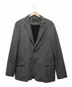 CALL&RESPONSE(コール&レスポンス)の古着「グレンチェックストレッチテーラードジャケット」|ブラウン