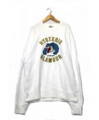 Hysteric Glamour(ヒステリックグラマー)の古着「BB WALDO刺繍スウェット」|ホワイト