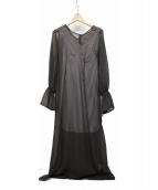 ()の古着「シアーコンシャスドレス」 ブラウン