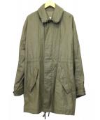 Martin Margiela 10(マルタンマルジェラ10)の古着「リネンコーティングモッズコート」|オリーブ