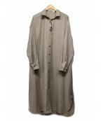 Loungedress(ラウンジドレス)の古着「シャツワンピース」 ベージュ