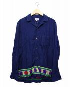 GAIJIN MADE(ガイジンメイド)の古着「袖刺繍シャツ」|ネイビー