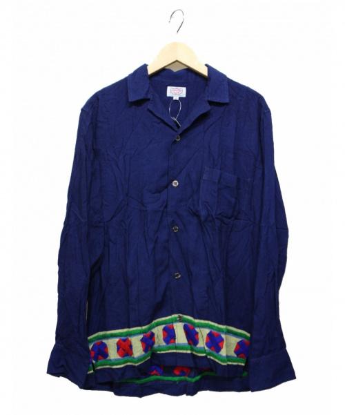 GAIJIN MADE(ガイジンメイド)GAIJIN MADE (ガイジンメイド) 袖刺繍シャツ ネイビー サイズ:L 未使用品の古着・服飾アイテム
