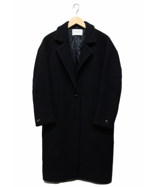 UNITED ARROWS(ユナイテッドアローズ)UNITED ARROWS (ユナイテッドアローズ) UWMF W/Nメルトンビッグコート ブラック サイズ:M  参考定価39.000円+税の古着・服飾アイテム