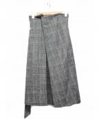 THE IRON(アイロン)の古着「THE IRON HI ラップスカート」 グレー×ブラック