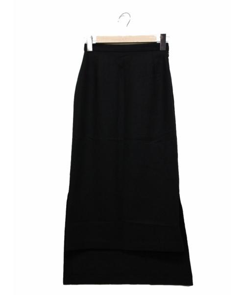 CLANE(クラネ)CLANE (クラネ) バックロングウールスカート ブラック 参考定価17.000円+税の古着・服飾アイテム