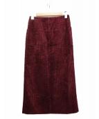 ASTRAET(アストラット)の古着「太畝コーデュロイスカート」|ボルドー