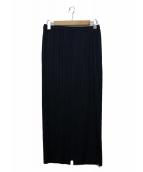 PLEATS PLEASE(プリーツプリーズ)の古着「スリットスカート」|ネイビー