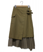 UNITED TOKYO(ユナイテッドトウキョウ)の古着「レイヤードスカート」|ベージュ