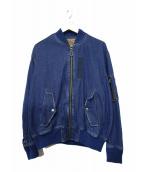 G.V.G.V(ジーヴイジーヴイ)の古着「デニムレースアップMA-1」 ブルー