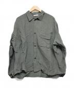 CLANE HOMME(クラネ オム)の古着「リネンシャツ」|グリーン
