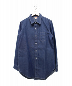 ATLAST & CO(アットラスト)の古着「デニムシャツ」|インディゴ