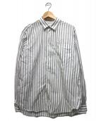 STUDIO NICHOLSON(スタジオ ニコルソン)の古着「ストライプシャツ」|ホワイト