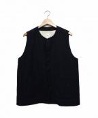 RINEN(リネン)の古着「2/60ウール綾織ベスト」|ネイビー