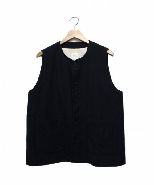 RINEN(リネン)RINEN (リネン) 2/60ウール綾織ベスト ネイビー サイズ:1の古着・服飾アイテム