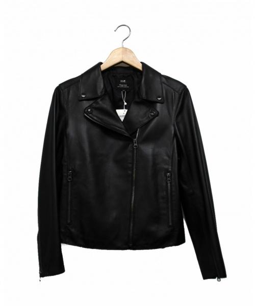 23区(ニジュウサンク)23区 (ニジュウサンク) レザーライダースジャケット ブラック サイズ:38の古着・服飾アイテム