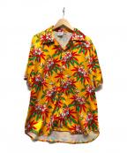 sss world corp(トリプルエス ワールドコープ)の古着「アロハシャツ」|オレンジ
