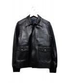 BRIGHT THINGS(ブライトシングス)の古着「レザージャケット」|ブラック