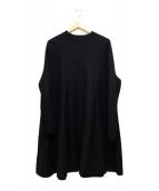 ENFOLD(エンフォルド)の古着「メリノウール Aラインワンピース」|ブラック