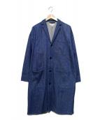 HYKE(ハイク)の古着「デニムショップコート」|インディゴ