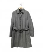 HERNO(ヘルノ)の古着「ベルテッドステンカラーコート」 グレー