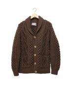 INVERALLAN(インバーアラン)の古着「6 SHAWL COLLER CARDIGAN」|ブラウン