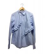 COMME des GARCONS COMME des GA(コムデギャルソン)の古着「フリルシャツ」|ブルー