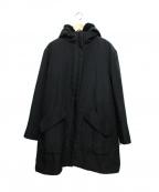 Gabardine K.T(ギャバシンケーティー)の古着「ライナー付フーデッドコート」 ブラック