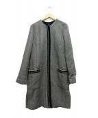 STRENESSE(ストラネス)の古着「ノーカラーコート」|ブラック