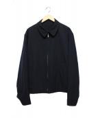 YS for men(ワイズフォーメン)の古着「ウールギャバジンジップアップジャケット」|ネイビー