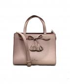 Kate Spade(ケイトスペード)の古着「タッセルリボン2WAYバッグ」|ピンク