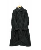 Arte Povera(アルテポーヴェラ)の古着「スーピマライトモールスキンステンカラーコート」 ブラック
