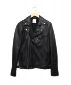 UNITED TOKYO(ユナイテッドトウキョウ)の古着「ダブルライダースジャケット」 ブラック