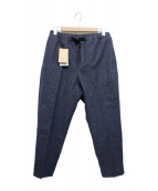 SOPH.(ソフ)の古着「WIDE CROPED TAPERED PANTS by」|ネイビー