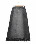 Ameri(アメリ)の古着「RAGGED DENIM SKIRT」|ブラック