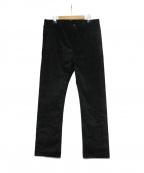Fraizzoli(フライツォーリ)の古着「ベロアパンツ」|ブラック