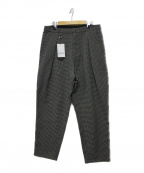 SOPH.(ソフ)の古着「1 TUCK WIDE TAPERED CHECK PANT」|グレー